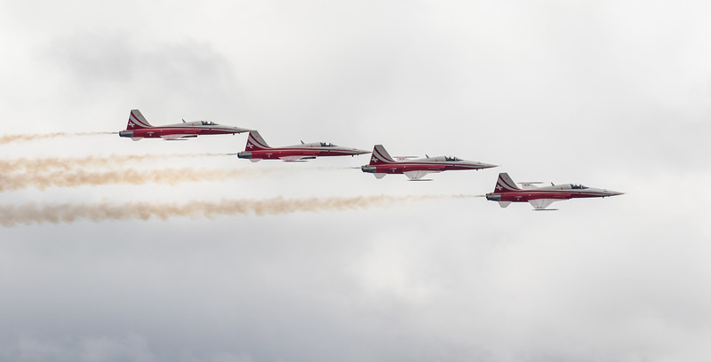 Patrouille Suisse - F5E Tiger - Swiss Airforce - RIAT - RAF Fairford (July 2017)