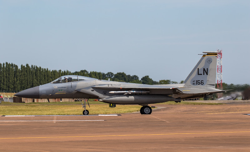 F15 C Eagle - USAF - RIAT Departures - RAF Fairford (July 2017)