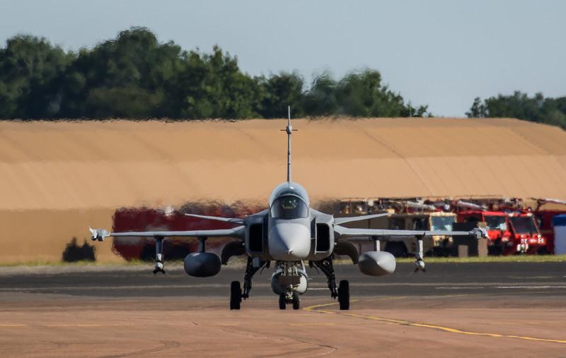 JAS-39 Gripen - Swedish Airforce - RIAT Departures - RAF Fairford (July 2017)