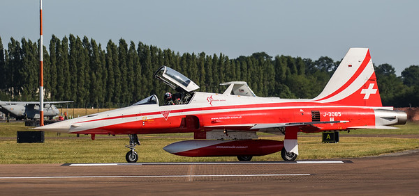 F5 Tiger II - Patrouille Suisse - RIAT Departures - RAF Fairford (July 2017)