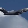 C-17 Globemaster departing after dropping Thunderbirds' cargo
