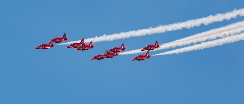 Red Arrows - RAF Display Team - RIAT - RAF Fairford (July 2018)
