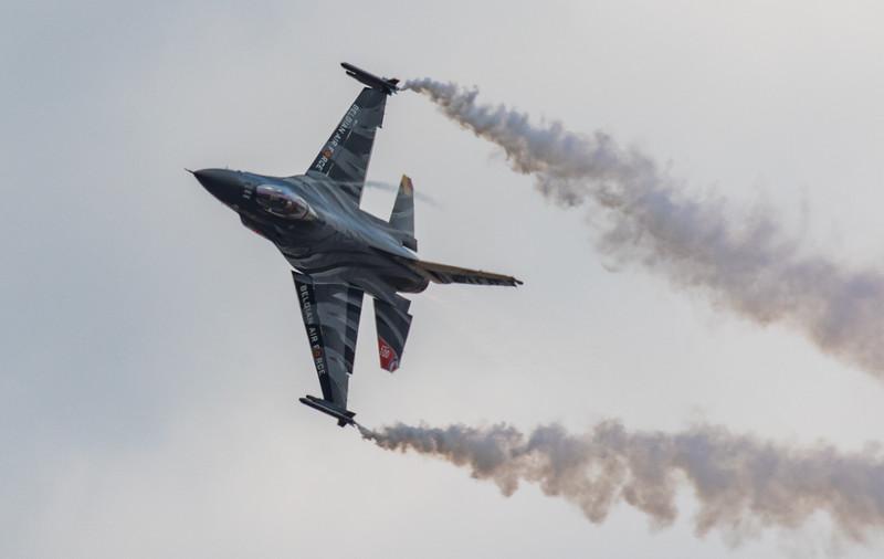 F16 Falcon - Belgian Airforce Display - RIAT - RAF Fairford (July 2018)