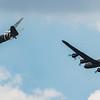 BBMF - Trenchard Display - Lancaster - Dakota - RIAT - RAF Fairford (July 2018)