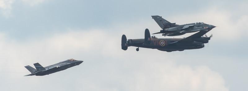 RAF100 - 617 Squadron - Lancaster - Tornado - F35B Lightning - RIAT - RAF Fairford (July 2018)