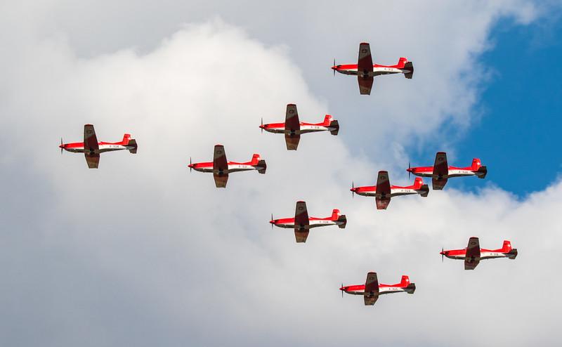 PC-7 Team - Swiss Airforce Display - RIAT - RAF Fairford (July 2018)