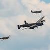 BBMF - Trenchard Display - Lancaster - Spitfire - Hurricane - RIAT - RAF Fairford (July 2018)