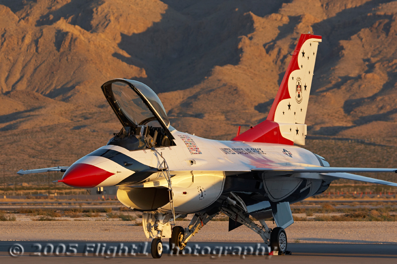 The late afternoon light makes the Nellis show a great place for photography