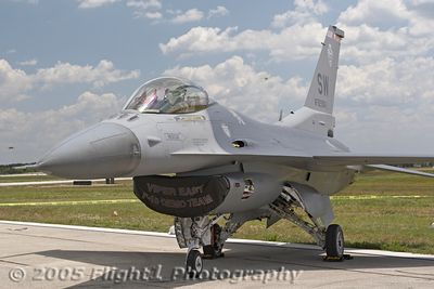 "Maj Geoff ""Hak"" Hickman's F-16 Fighting Falcon from the USAF Viper East Demo Team"