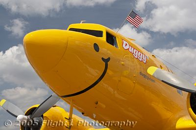 """""""Duggy"""" the DC-3 from the National Aviation Hall of Fame's SkyReach Educational Program"""