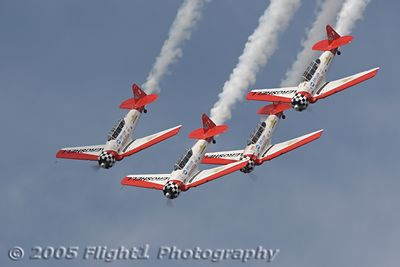 The Aeroshell Aerobatic Team - Alan Henly, Mark Henly, Steve Gustafson, and Gene McNeely