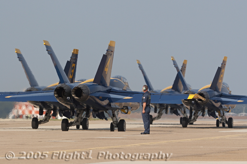 The Blue Angel Diamond taxis for departure