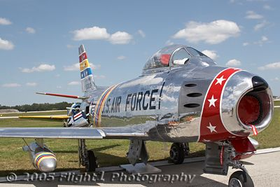 Wyatt Fuller's F-86 was named Reserve Grand Champion Warbird of the Post-WWII era at Sun-N-Fun 2005