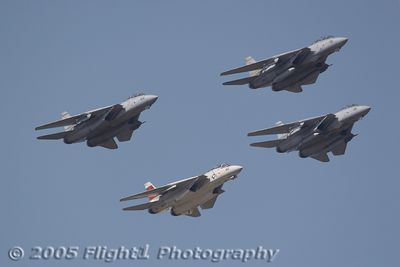 Three Tomcats from VF-32 and one from VF-101