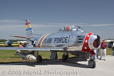 The F-86 shines in the Florida sunshine