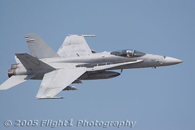 A Knighthawk Hornet makes a run during the Air Power Demo
