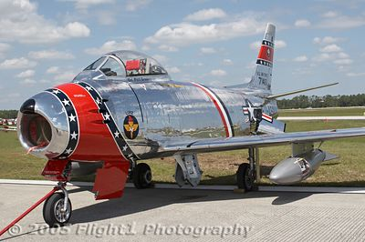 Ed Shipley's F86 was once owned by astronaut Frank Borman