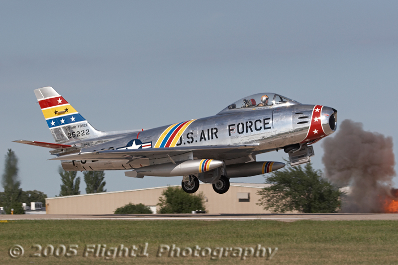 Wyatt Fuller takes to the air in his beautiful F-86