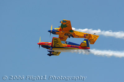 Mancuso and Chapman fly a mirror formation