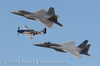 The sky was blue for Saturday's Heritage Flight