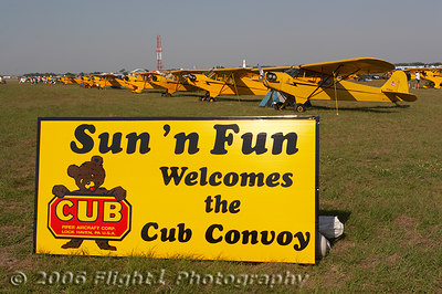 Sun 'n Fun welcomed a gaggle of Piper Cubs in the 2006 Cub Convoy