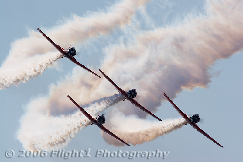 Backlighting makes this shot of the AeroShell Team even more dramatic
