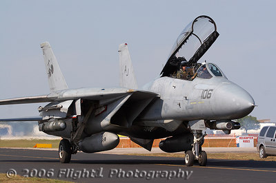The Tomcat was from the VF-31 Tomcatters from NAS Oceana in Virginia beach, VA