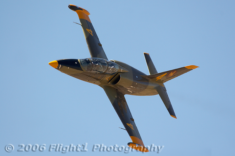 The Jet class features L-39 jets. This one is flown by Brad Morehouse