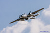 """CAF MN Wing B-25 """"Miss Mitchell"""", simulated bomb pass."""