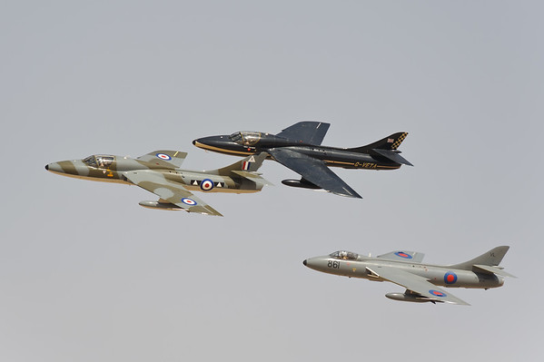 Team Viper, formation of three Hawker Hunters