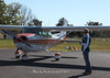 One of the authors, Sarah Artery with the Brad Pearsall's Cessna 172 at Young AP.