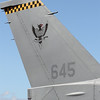 The insignia of the Republic of Singapore Air Force's 143 'Phoenix' Sqn on the tail of F-16C Block 52 645/97-0118. 143 has previously operated the A-4 Skyhawk since 1975 before converting to F-16C/Ds in 2000.