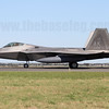The other F-22 at the show was 06-0108, in line bird markings of the 525th FS. Prior to the show, the F-22s made the trip direct from Kadena to Avalon, with KC-135 support.