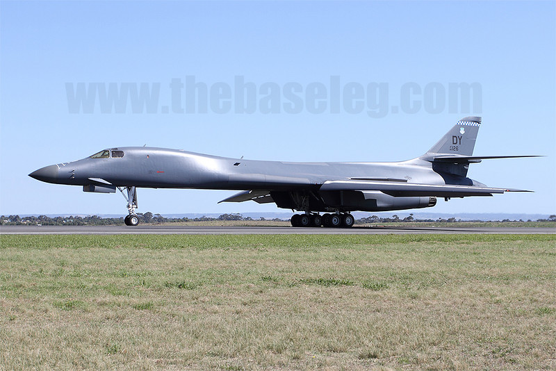 Two Dyess-based B-1B bombers from the USAF's 7th bomb Wing appeared at Avalon. Here 86-0126 taxis for departure after the show.