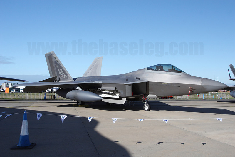 USAF F-22A Raptor of the 3rd Wing based at Elemendorf, Alaska marking the types' first appearance in Australia. Serial 06-0115