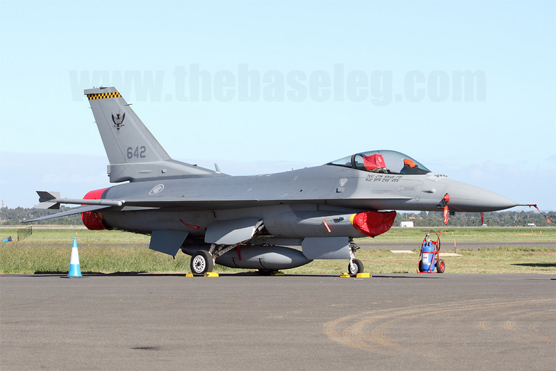 Republic of Singapore Air Force F-16C of 143 Sqn normally based at Tengah Airbase. Avalon 2011 marked the first time RSAF F-16s have appeared and performed at the show.
