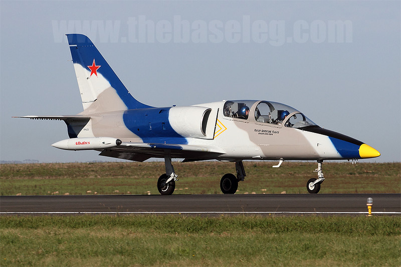 FastJet Adventure Flight's stunning Aero L-39 Albatross VH-LCJ heads out of Avalon after the airshow.