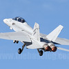 Taking off in afterburner. The Super Hornet is loud!