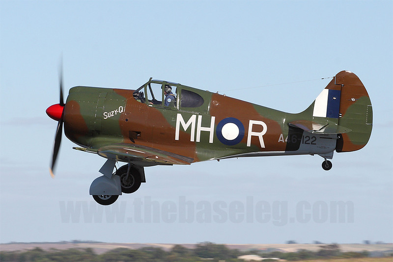 Temora Aviation Museum's CAC CA-13 Boomerang VH-MHR/A46-122 takes off. I can't get enough of this aircraft's distinctive sound!