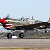 Another Australian warbird present at Avalon was VH-ZOC, a P-40E Kittyhawk in 112 Sqn RAF markings.