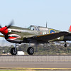 Another Australian warbird present at Avalon was VH-ZOC, a P-40E Kittyhawk in 112 Sqn RAF markings.