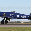 In contrast to Temora's Spitfire, Avalon 2011 is the first time I've seen Hawker Sea Fury VH-ORN.