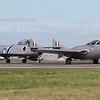 The Vampire and CAC Sabre taxi back after their joint display with the Meteor (not in picture).