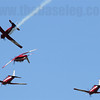 The RAAF Roulettes aerobatics team going through their paces at Avalon.