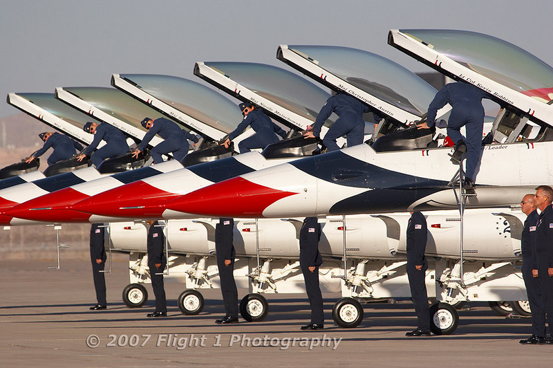 The Thunderbirds saddle up