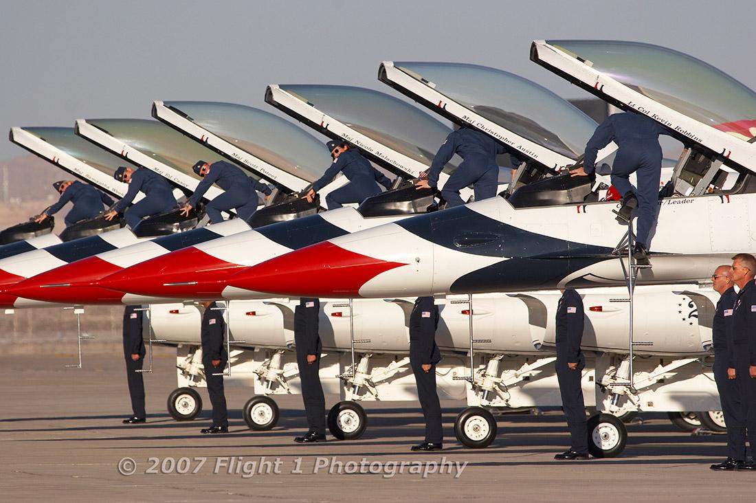The Thunderbirds saddle up