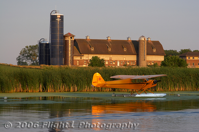 A tranquil evening at the Oshkosh seaplane base