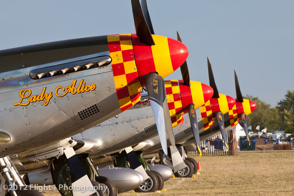 Mustang Row at EAA AirVenture in Oshkosh, Wisconsin.