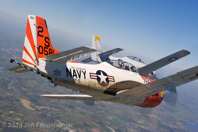 T-28 Formation practice