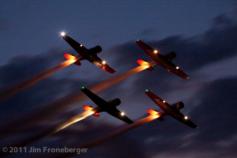 The AeroShell Team night show.